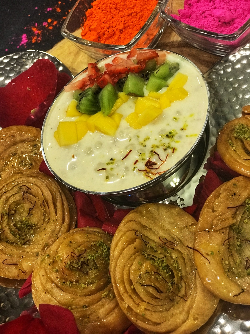 Khaja with Sabudana Kheer